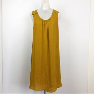 H & M Conscious  Swing Dress lace mustard yellow
